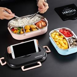 Pudełko na lunch pojemnik na jedzenie kuchenka mikrofalowa podgrzewane pudełko na lunch dla dzieci 304 nierdzewne pudełko na lunch Bento pojemnik na jedzenie akcesoria kuchenne w Pudełka śniadaniowe od Dom i ogród na