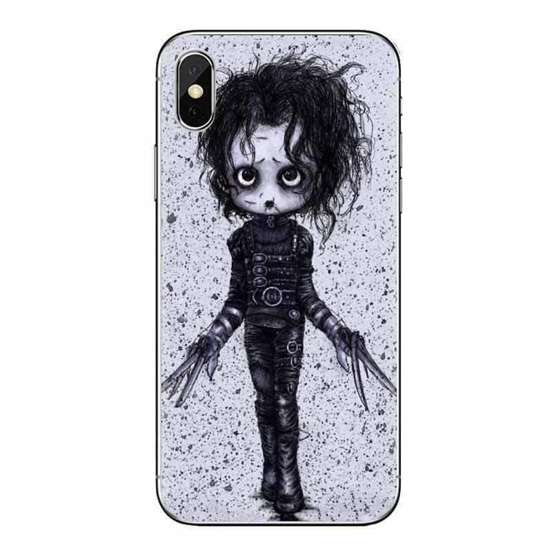 Transparent Soft Cases Covers For Samsung Galaxy S3 S4 S5 Mini S6 S7 Edge S8 S9 S10 Plus Note 3 4 5 8 9 edward scissorhands