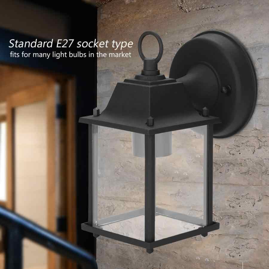 Wall Lamp Vintage Single Wall Lantern Lamp Holder Indoor Outdoor Home Garden Decor Wall Light No Light Source Led Outdoor Wall Lamps Aliexpress