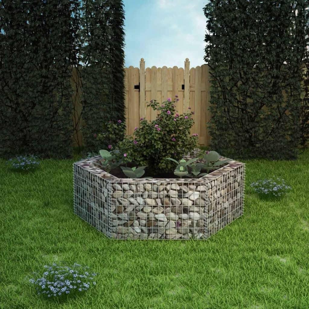 VidaXL Hexagonal Gabion Planter 160x140x50 Cm
