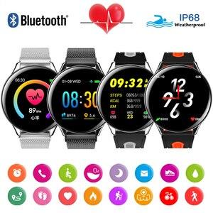 Image 2 - Epopoos smart watch 2020強化ガラスタッチスクリーンフィットネススマートウォッチIP68防水心拍数血圧smart watch es