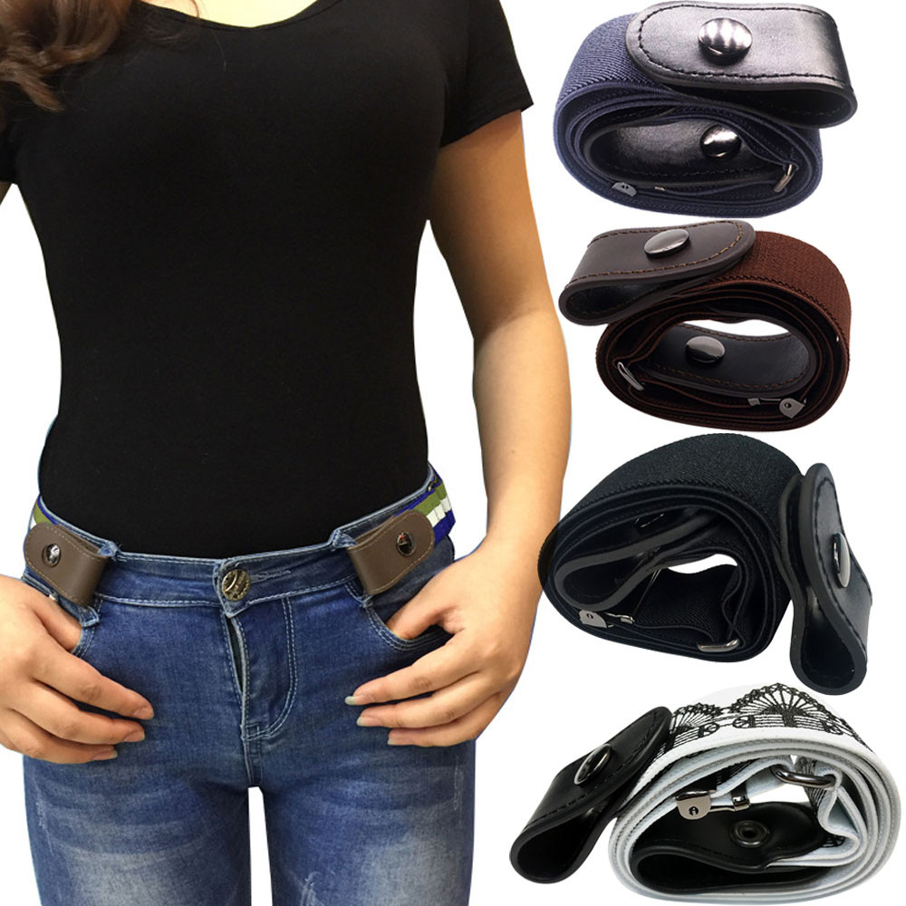 Simple And Versatile Men And Women Lazy Belt Seven-color Slim Stretch Invisible Belt  Y11.7