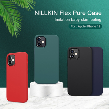 For iphone 11 XR case Funda iphone se 2020 NILLKIN Flex Pure Slim Soft Liquid Silicone Shockproof Case For iphone 12 Pro Xs Max