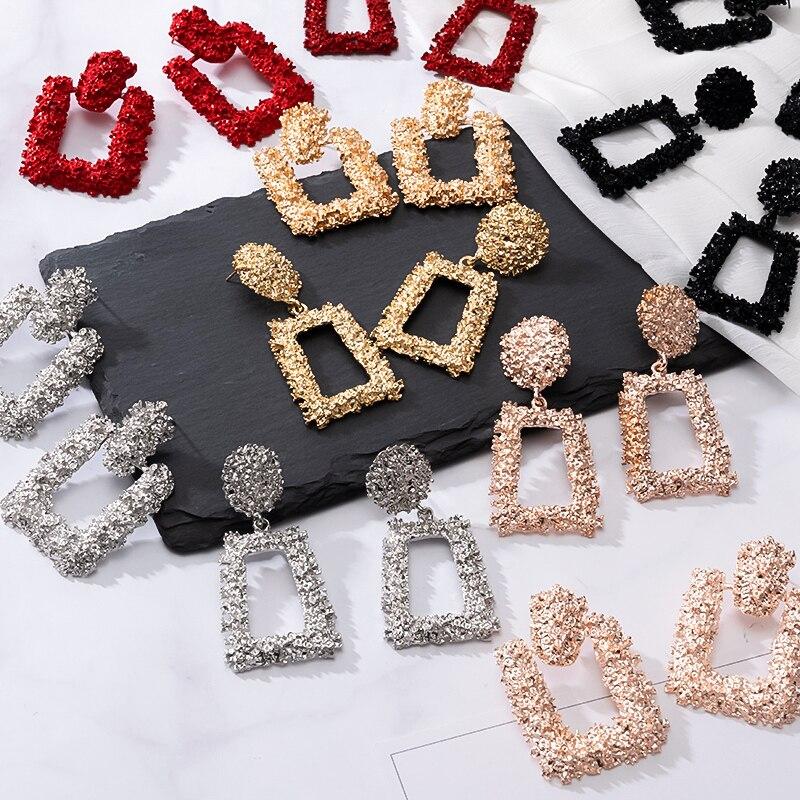 Mode boucles d'oreilles grand géométrique boucles d'oreilles pour les femmes suspendus boucles d'oreilles pendantes boucles d'oreilles goutte 2020 moderne femme bijoux
