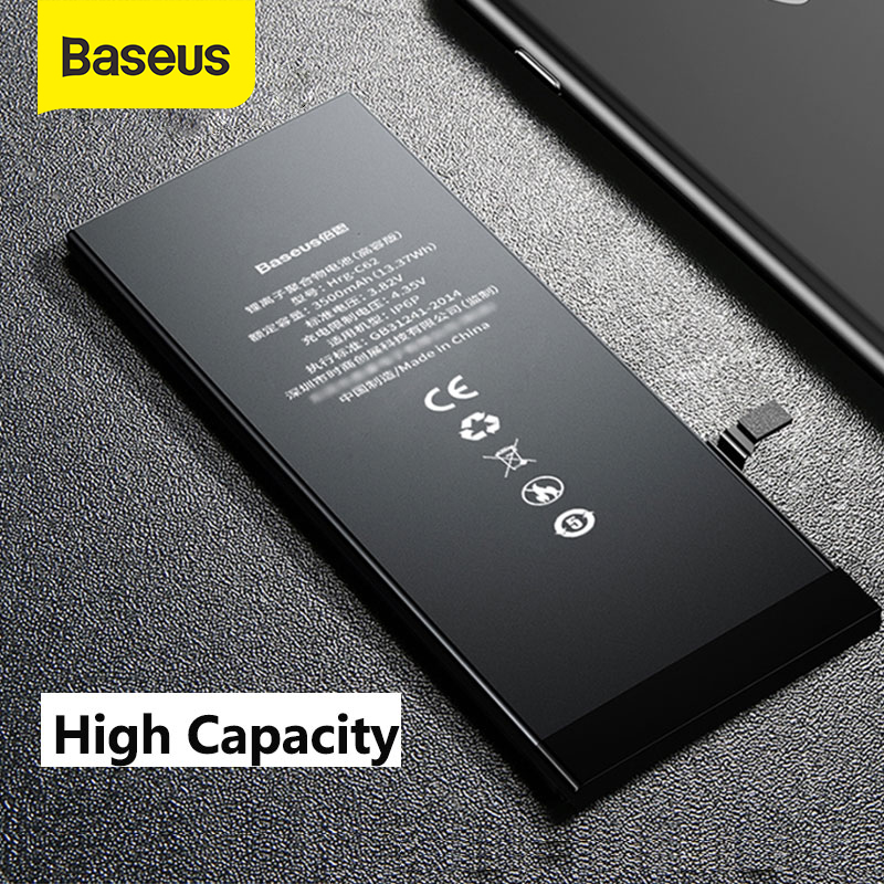 Baseus For IPhone 6 6s 6 Plus 6S Plus Battery 2200mAh 3500mAh High Capacity Replacement Phone Bateria With Free Repair Tools Kit
