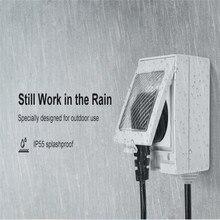 SONOFF S55 US UK EU Smart Plug, WiFi Пульт дистанционного управления с Alexa, водонепроницаемый, Smartt Google Home электрическая розетка SONOFF