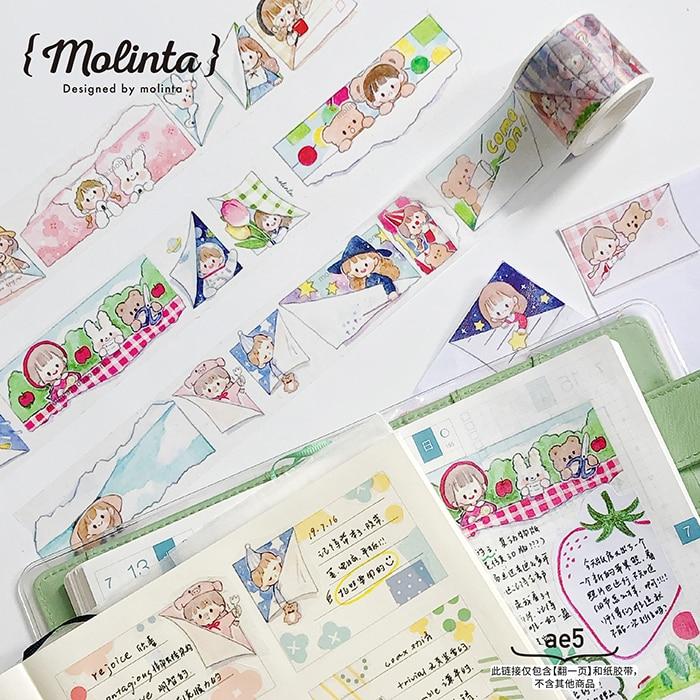 10 Pcs/lot DIY Japanese Paper Decorative Adhesive Tape Lovely Series Washi Tape/Masking Tape Stickers