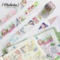 10 stks/partij DIY Japanse Papier Decoratieve Plakband mooie serie Washi Tape/Masking Tape Stickers