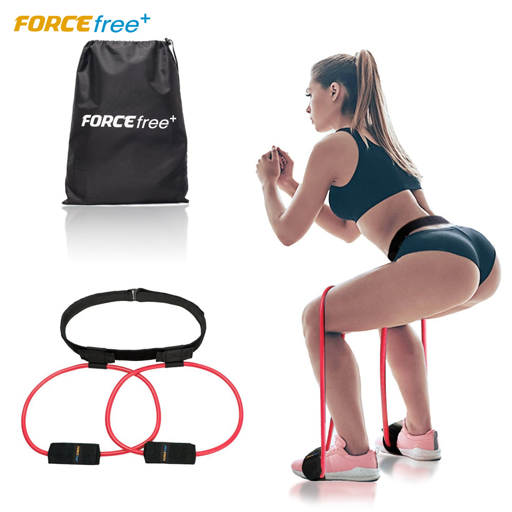 Forcefree+ Booty Butt Resistance Bands System Pedal Exerciser Fitness Rubber Belt-Lift Women Glute & Lower Body Muscles Shape
