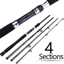 Sougayilang Portable 4 Section Fishing Rod 2.7M Ultralight Weight Carbon Fiber Spinning Fishing Rod EVA Handle Fishing Tackle