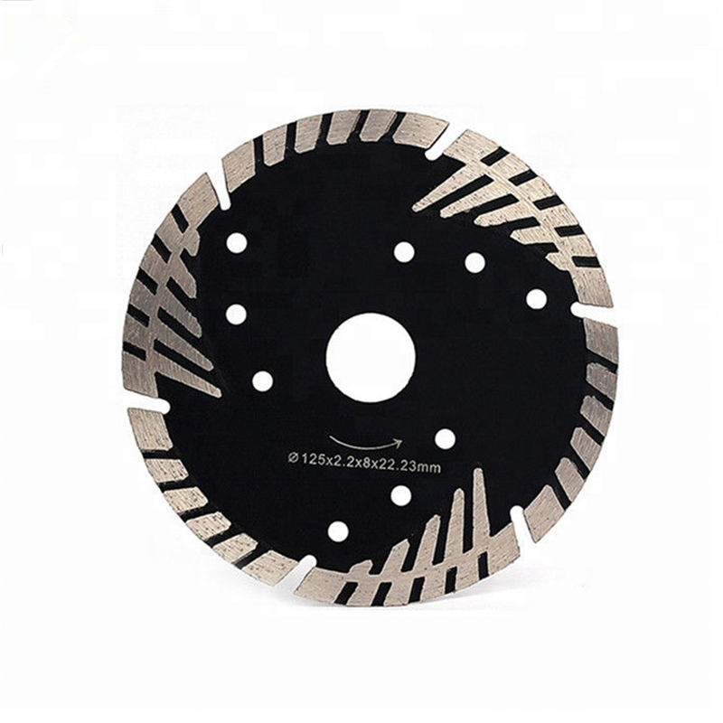 DB60 Protective Teeth Diamond Saw Blades 5 Inch D125mm Turbo Segmented Cutting Disc For Porcelain Ceramic Tiles 10PCS