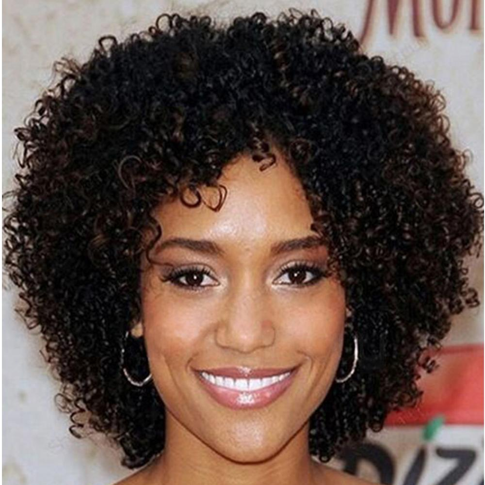 Amir Hair Short Afro Curly Hair Wig Synthetic Glueless No Lace Front Jerry Curl Hair Wigs Perruque