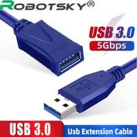 Cavo di prolunga USB3.0 da maschio a femmina cavo di trasmissione dati ad alta velocità per prolunga Mouse Desktop per Computer TV Hard Stick
