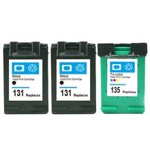 vilaxh  131 135 Compatible Ink Cartridge Replacement for HP Deskjet 460 5740 5940 PSC 1500 1510 1513 1610 2300 2610