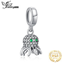 JewelryPalace Octopus  925 Sterling Silver Beads Charms Original For Bracelet original Bead Jewelry Making