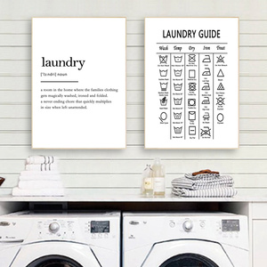 Laundry Guide Canvas Painting