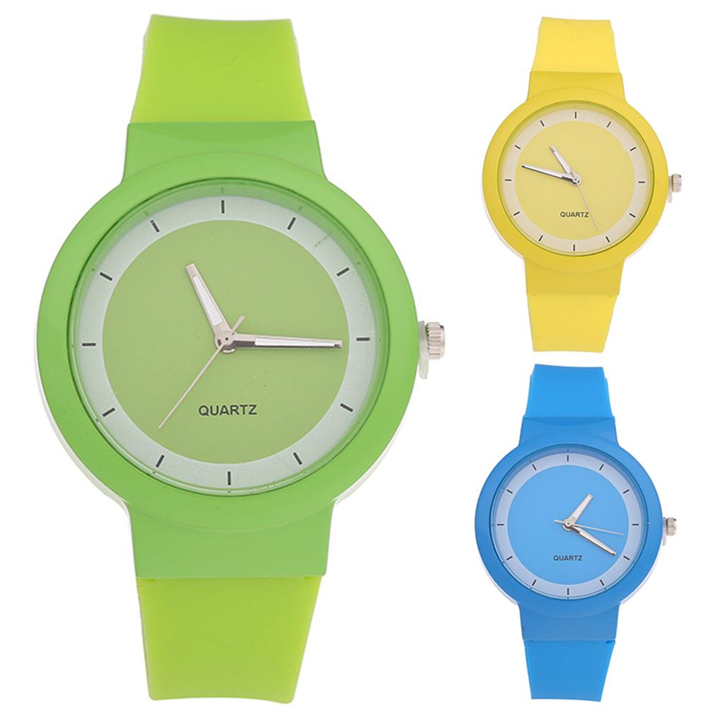 Permalink to Children's Watches Fashion Simple Casual Watches for kids Women Round Dial Silicone Band luxury Watch Analog Quartz