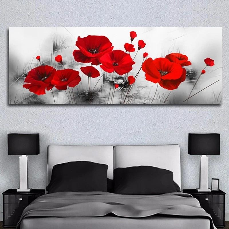 Ringkas Fashion Dinding Rumah Tema Bunga Lukisan Dinding Seni Dekorasi Rumah Lukisan Bunga Minyak Lukisan Kanvas Mu Painting Calligraphy Aliexpress