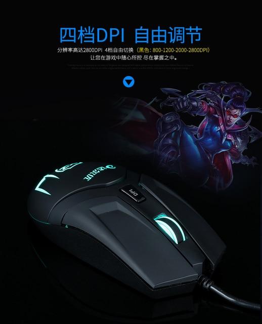 xq новый игровой клавиатурой с подсветкой мышь 2000 точек на фотография