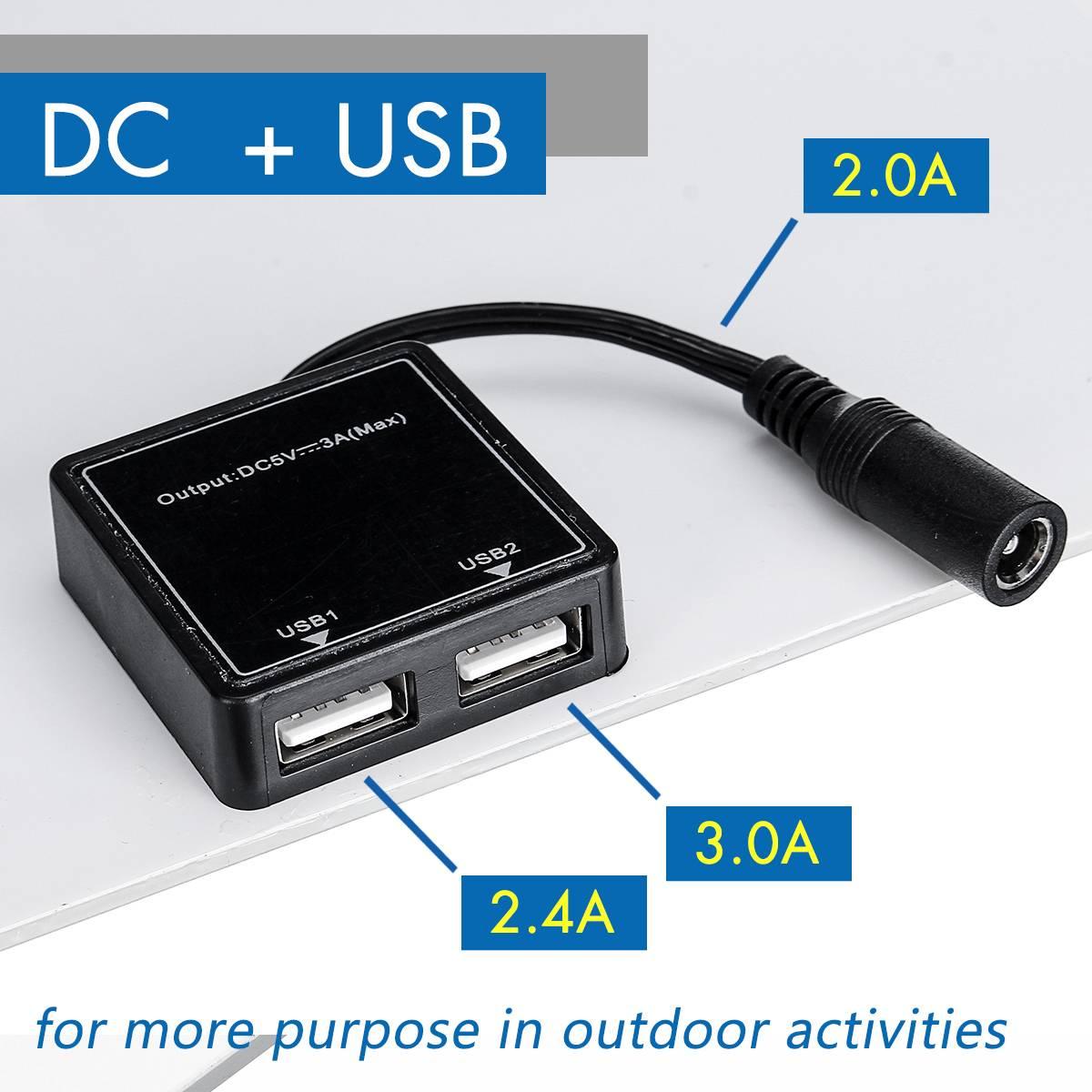 Gran oferta 100W 18V Panel Solar Mono Dual 12 V/5 V CC USB monocristalina Flexible Cargador Solar para coche RV barco cargador de batería - 5