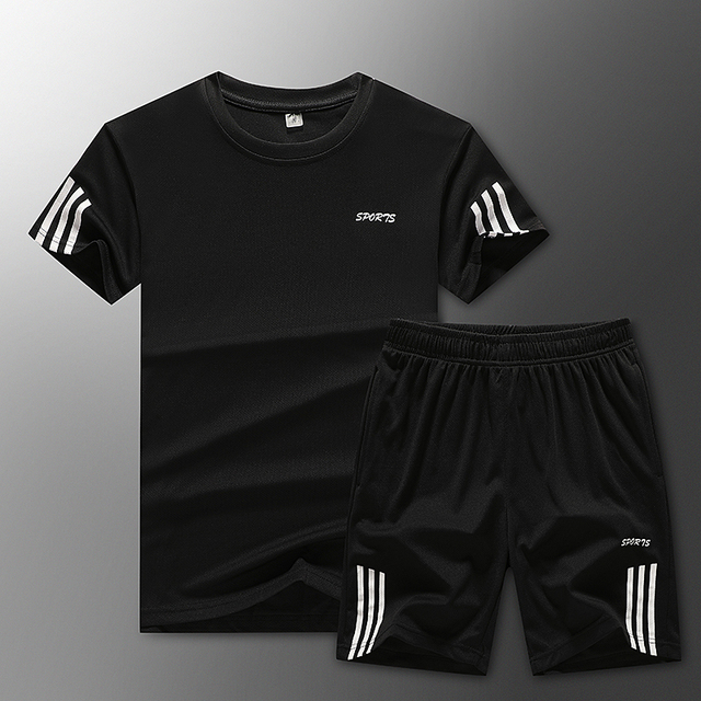 Loose Men's Sport Suits Quick Dry Running sets Clothes New Sports Joggers Training Gym Fitness Jogging Tracksuits large size 2