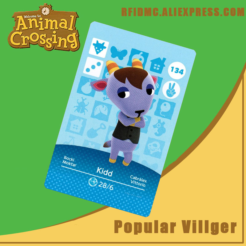 134 Kidd Animal Crossing Card Amiibo For New Horizons
