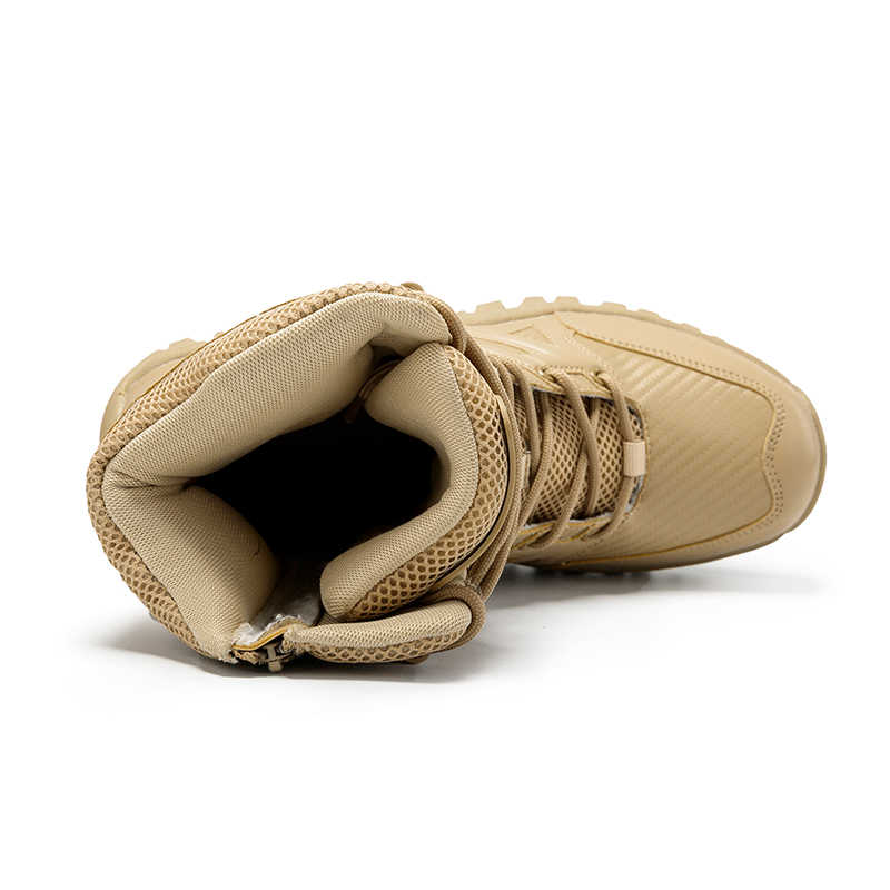 UEXIA yeni ayakkabı askeri taktik erkek botları özel kuvvet deri çöl savaş bileğe kadar bot ordu erkek ayakkabıları artı boyutu 39-47