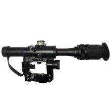 4x24 PSO סוג Riflescope טקטי אדום מואר זכוכית חרוט Reticle היקף עבור דרגונוב SVD צלף AK 47 Sight רובה