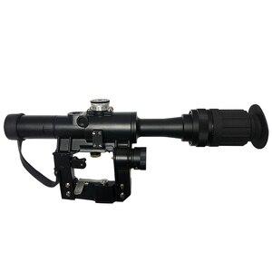 Image 1 - 4x24 PSO סוג Riflescope טקטי אדום מואר זכוכית חרוט Reticle היקף עבור דרגונוב SVD צלף AK 47 Sight רובה