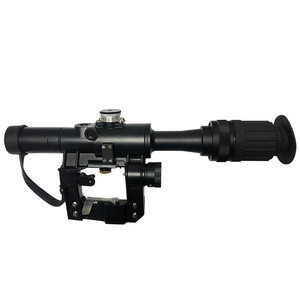 Image 1 - 4x24 PSO Type Riflescope Tactical Red Illuminated Glass Etched Reticle Scope for Dragunov SVD Sniper AK 47 Sight Rifle Series