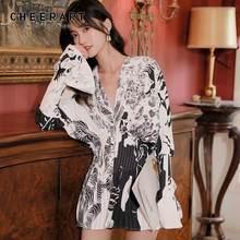 Женская блузка с рукавом «летучая мышь» cheerart v образным
