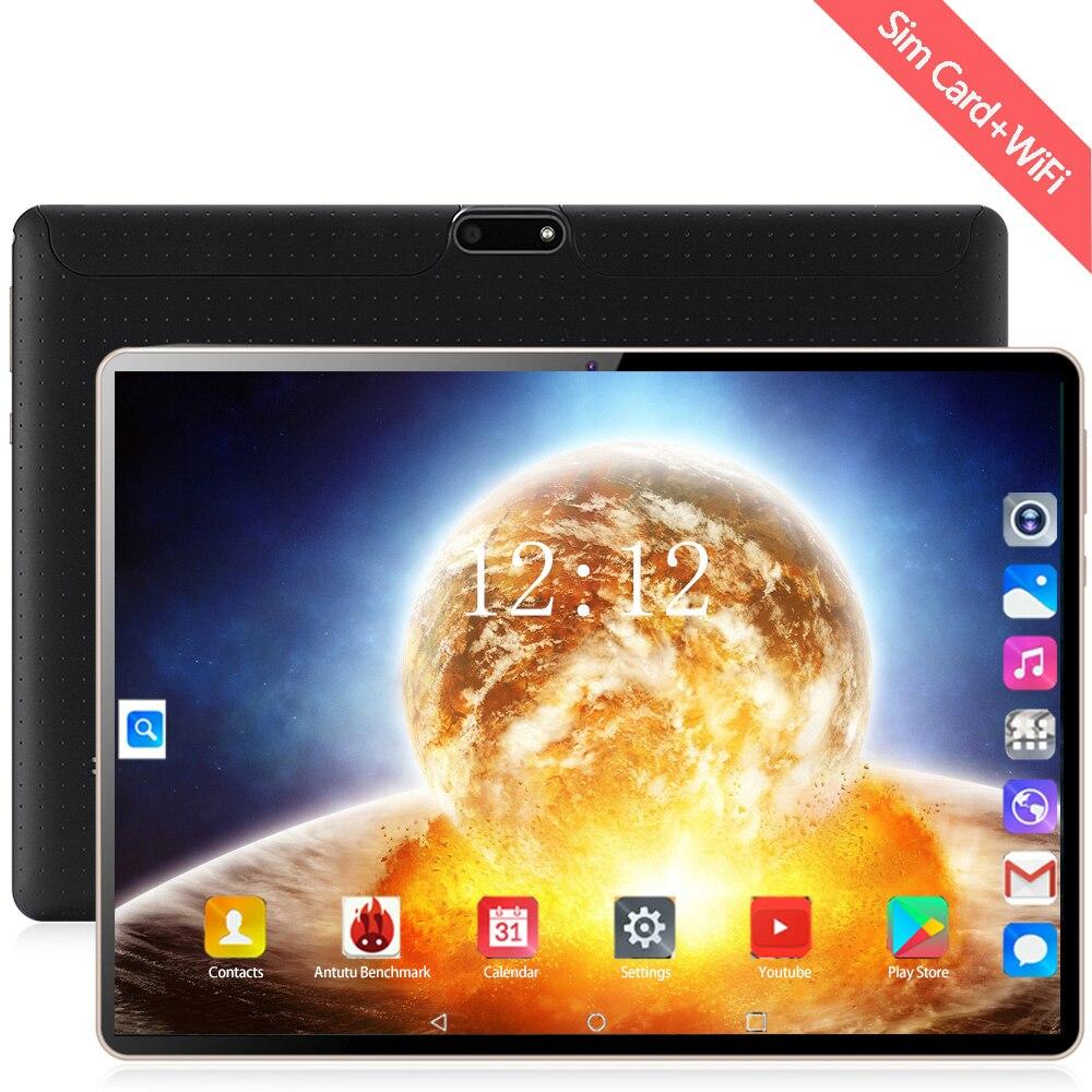 YAHU 10 Inch Tablets Android 8.0 MTK6753 Octa Core Ram 6GB ROM 128GB Dual Camera 8MP Dual SIM Tablet PC Wifi GPS Bluetooth Phone