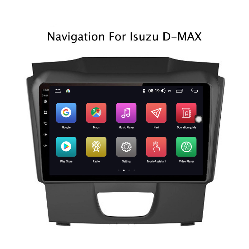 Sale Ectwodvd 9inch Andriod 8.1 Car DVD GPS For Isuzu D-MAX DMAX 2015-2018 4G RAM 64G ROM CarPlay DSP 4G LTE with WIFI 2
