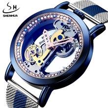 Vintage Automatic Mechanical นาฬิกาผู้ชาย Tourbillon โปร่งใสโครงกระดูก Self wind หนังสแตนเลสสตีลนาฬิกาข้อมือ