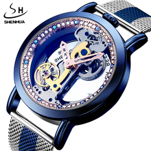 Vintage Automatische Mechanische Uhren Männer Tourbillon Transparent Skelett Zifferblatt Selbst wind Stahl Leder Stahl Mann Armbanduhr Uhr