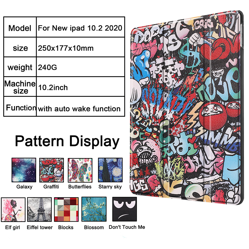 Case for 8-8th-Generation iPad/8th/Cas Sleep Smart-Cover Apple Magnetic iPad A2428/a2429