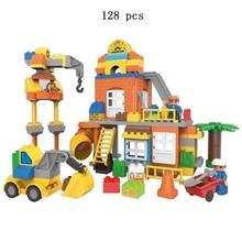 Creative DIY City Building Fire Alarm Series Large Particle Set Digital Blocks Children Educational Toys Gifts
