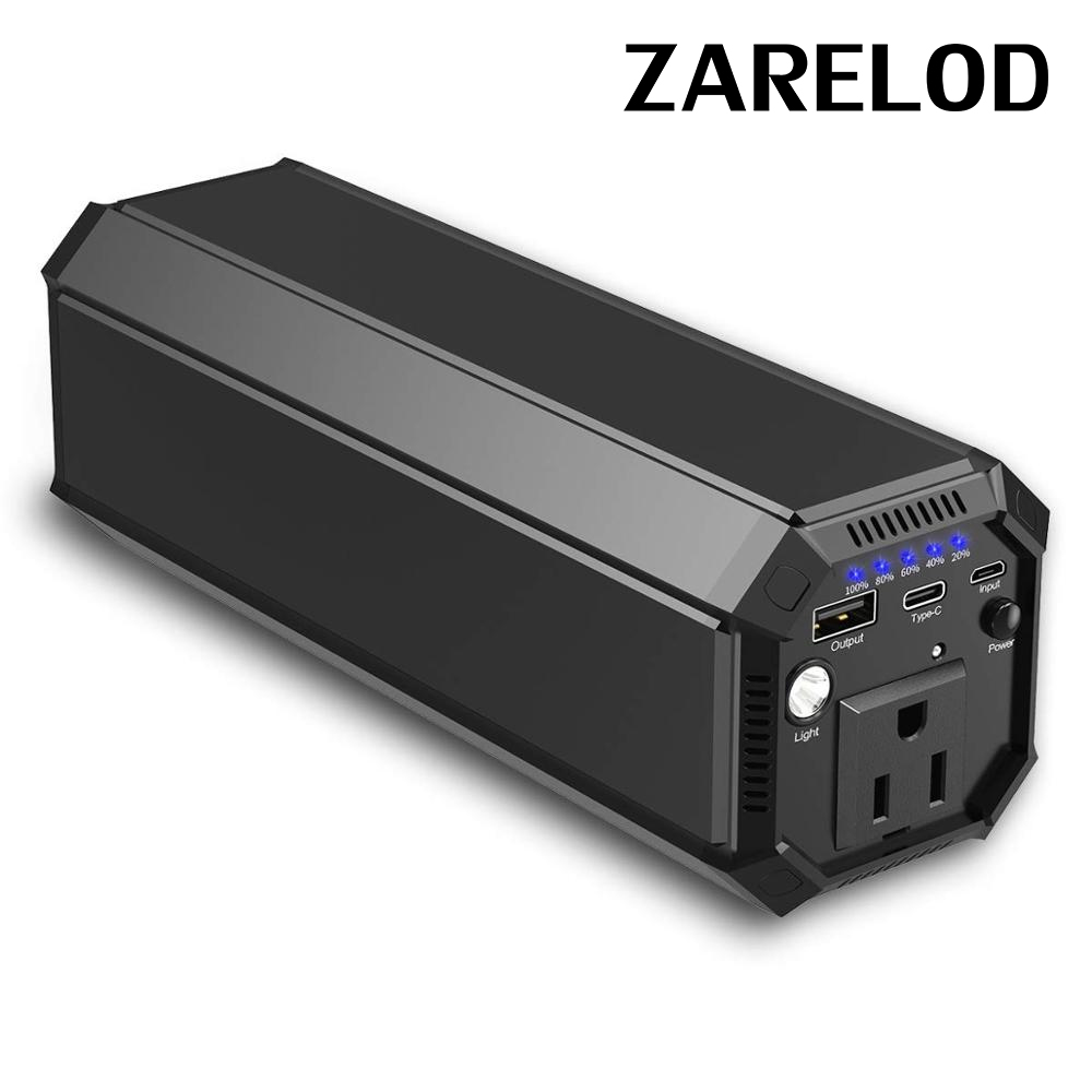 ZARELOD 110V AC Outlet Portable Laptop Power Bank 116Wh/31200mAh 100W Travel phone Charger External Battery Pack for Camera Chargers     - title=