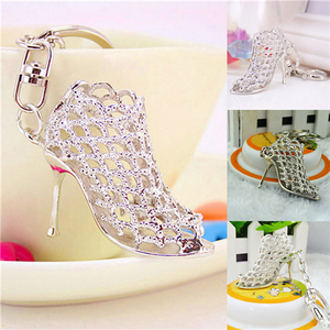 1Pcs High Heel Shoes Keychains Rhinestone Alloy Key Rings Women Charms Keychains Fashion Gifts For Women