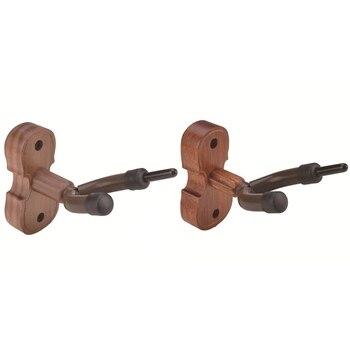 hardwood violin hanger hook bow holder home studio wall mount burlywood color 20 12w New Wall Mount Violin Hanger Hook with Bow Holder for Home & Studio