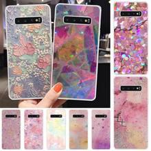 Tao Taoju Pink Glitter Soft Silicone TPU Phone Cover For Samsung S6 S7 S7 edge S8 S8 Plus S9 S9 Plus S10 S10 plus S10 E(lite) medicine nurse doctor dentist soft edge phone cases for samsung s6 edge plus s7 edge s8 s9 s10 plus lite e note8 note9 cover