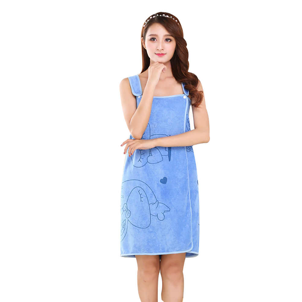 Wearable Women/'s Lady Microfiber Shower SPA Wrap Body Bathrobe Bath Towel 6A