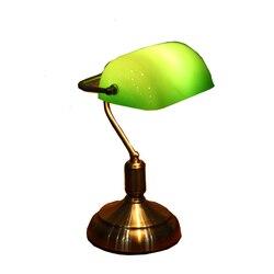 Nostalgia lampa biurkowa w stylu amerykańskim tanie staroświecka zielona lampa studyjna lampa stołowa Retro