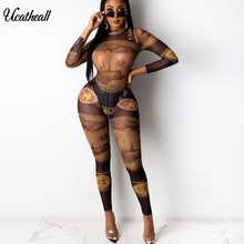 Club Outfits Bodysuit Pants Matching-Sets Two-Piece-Set Ladies Tracksuit Long-Sleeve