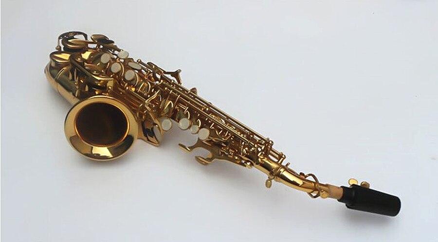 Сопрано саксофон том BB изогнутый сопрано sax из Bcreated музыкальный инструмент саксофон Sax для детей и чехол - 3