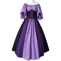 Vintage Palace Princess Dresses Renaissance Ladies Flower vestidos Elegant Women Lace Dress Gothic Lolita Girl Cosplay Costumes