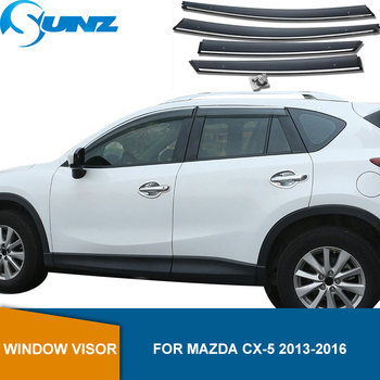 Side Window Deflectors For Mazda CX-5 CX5 2013 2014 2015 2016 Window Visor Window Shields Sun Rain Deflector Guards SUNZ light transmission wind deflector for toyota rav4 rav 4 2013 2014 2015 2016 2017 rain window visor for toyota rav4 2013 2017