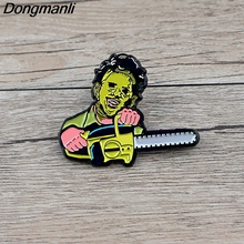K623 Horror Movie Jewelry Pins Metal Brooches and Pins Enamel Pin for Backpack Badge Brooch T-shirt Collar Halloween Gifts k313 trick r treat horror pins metal brooches and pins enamel pin for backpack bag badge brooch t shirt halloween jewelry
