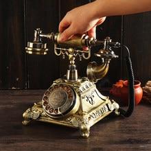 Vintage résine téléphone tirelire décoration de la maison accessoires rétro cadeau vieux téléphone modèle armoire ornements artisanat