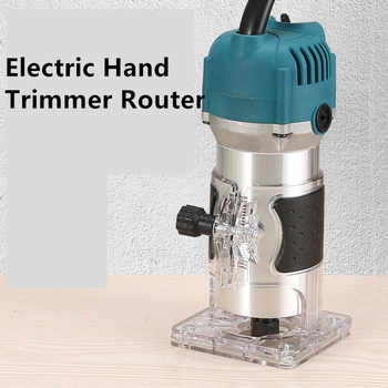 800W Electric Hand Trimmer Router Wood Carving Machine With Carrying Case Woodworking Wood Milling Slotting Machine Power Tools - DISCOUNT ITEM  46 OFF Tools